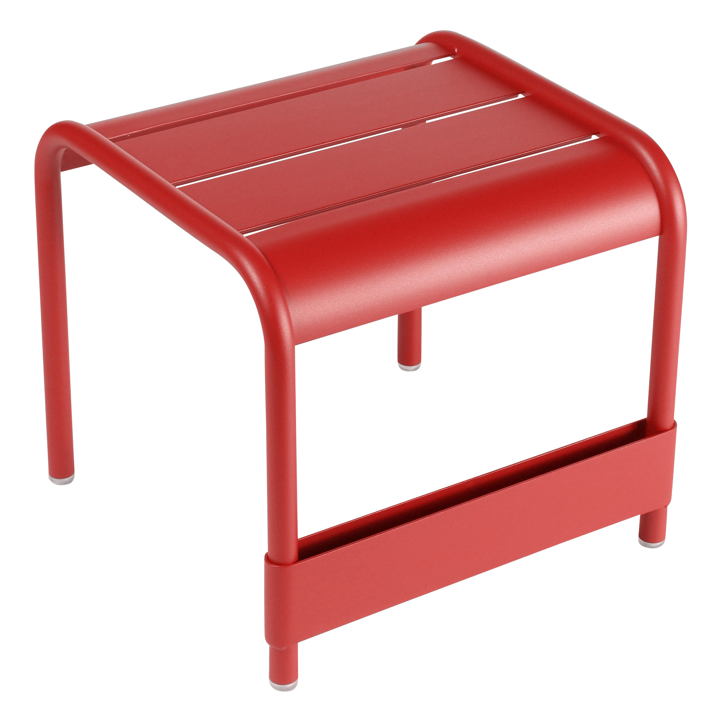 Life Style - Table d'appoint Luxembourg / Pouf - L 42 cm - Fermob - Coquelicot - Aluminium laqué