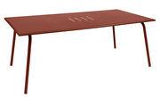 Table rectangulaire Monceau 194 x 94 cm 8 personnes Fermob ocre rouge en métal