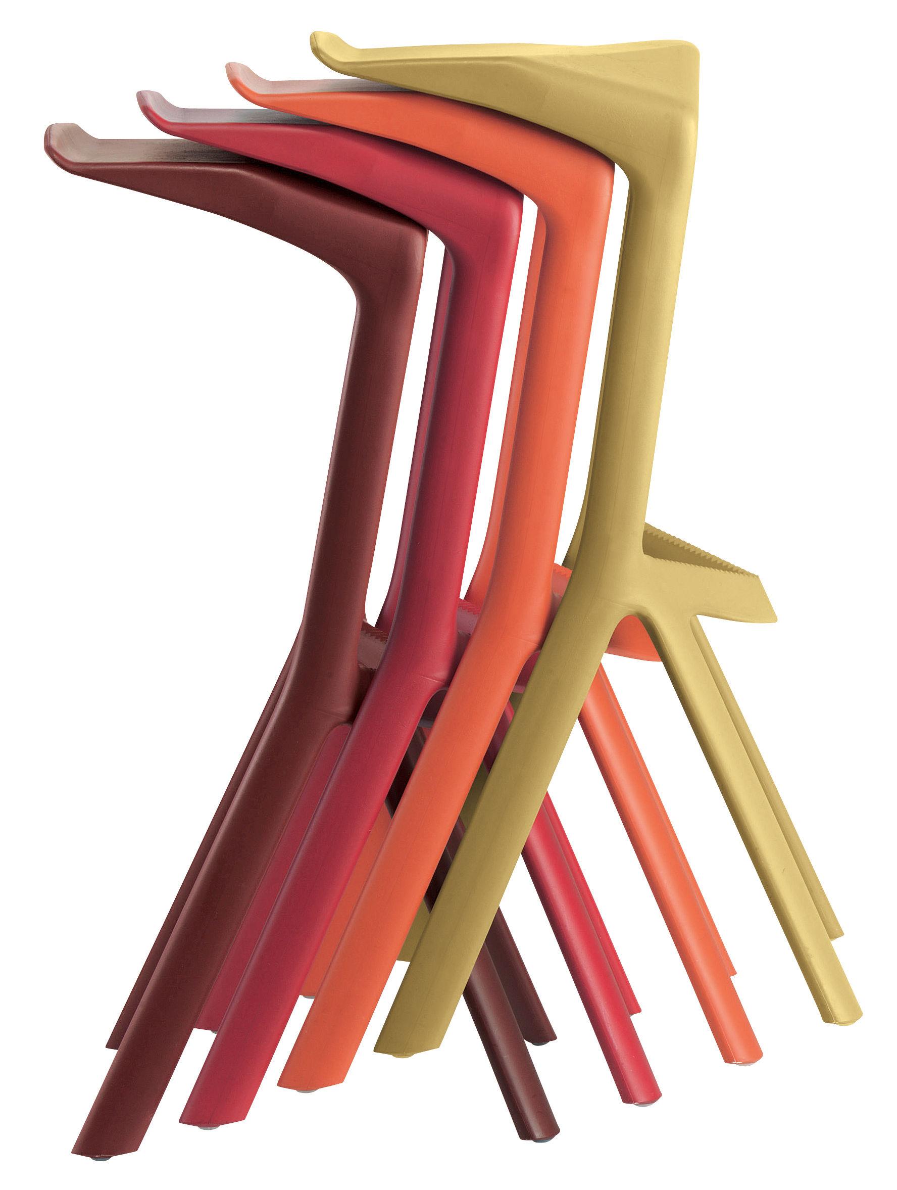 Mobilier - Tabourets de bar - Tabouret de bar Miura / H 78 cm - Plastique - Plank - Noir - Polypropylène renforcé de fibre de verre