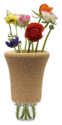 Decoration - Vases - Cantine - Modèle N°14 Vase - H 23,8 cm by Y'a pas le feu au lac - Cork & transparent - Cork, Glass