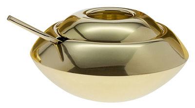 Tischkultur - Tee und Kaffee - Form Zuckerdose / mit Servierlöffel - Tom Dixon - Goldfarben - Messing