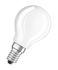 Ampoule LED E14 / Sphérique dépolie - 4,5W=40W (2700K, blanc chaud) - Osram