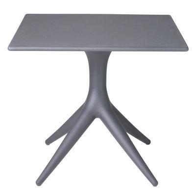 Outdoor - Tische - App quadratischer Tisch / 80 x 80 cm - Driade - Anthrazit-grau - rotationsgeformtes Polyäthylen