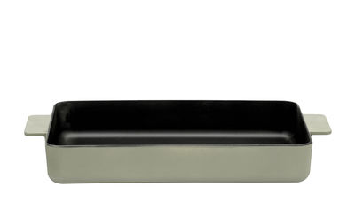 Kitchenware - Pots & Pans - Surface Baking dish - / enamelled - 38 x 25 cm by Serax - Camogreen - Cast iron