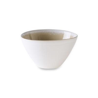 Arts de la table - Saladiers, coupes et bols - Bol / Ø 15 x H 8,5 cm -  Grès bicolore - Au Printemps Paris - Vanille / Blanc mat - Grès