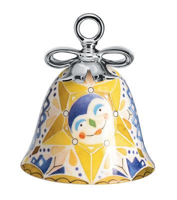 Boule de Noël Holy Family / Cloche Etoile Bethléem - Porcelaine peinte main - Alessi multicolore en céramique