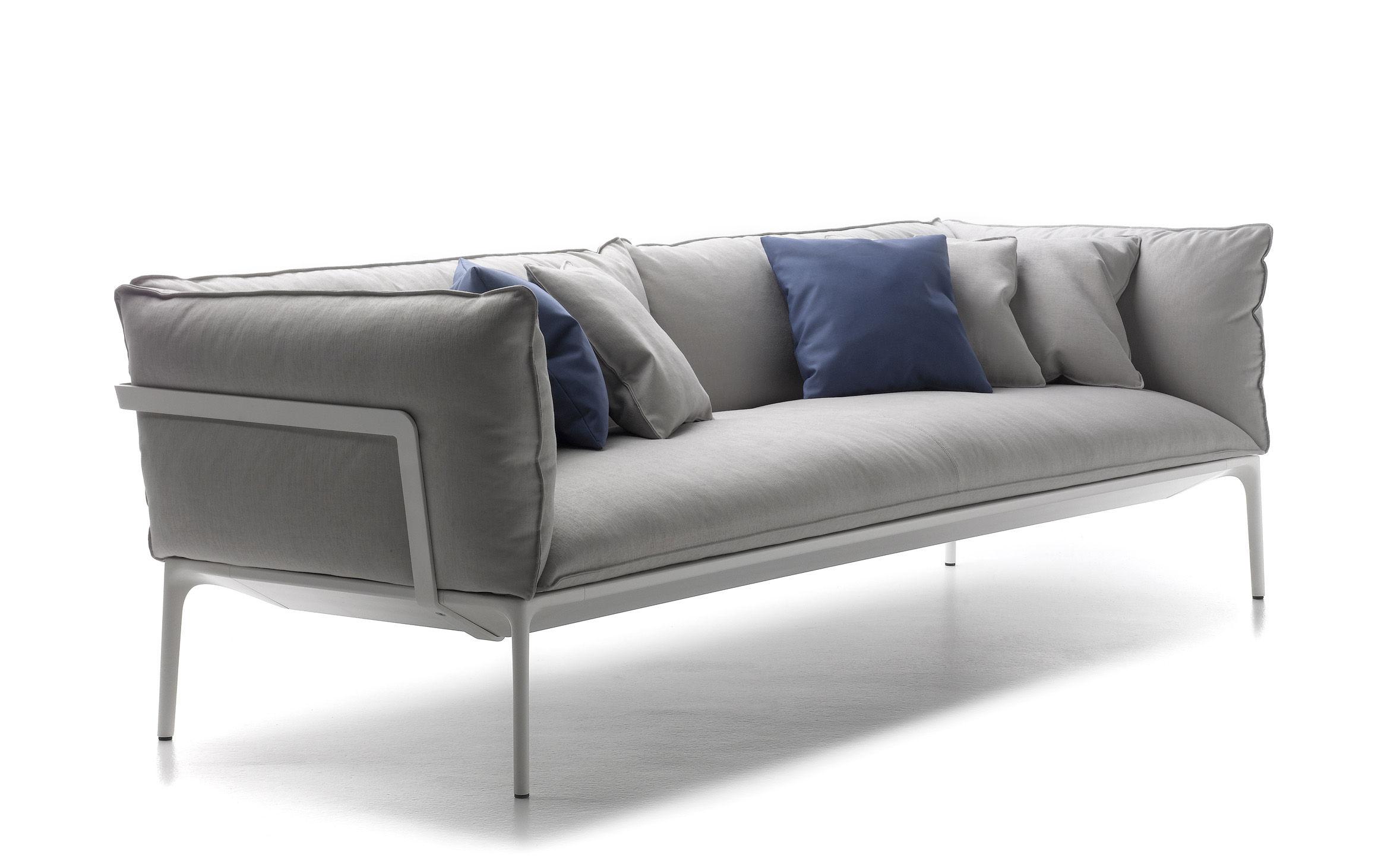 canap droit yale 3 places l 220 cm beige structure blanche 3 places mdf italia. Black Bedroom Furniture Sets. Home Design Ideas