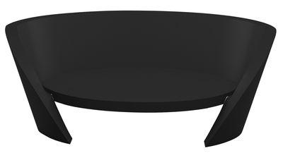 Canapé Rap / L 170 cm - Slide noir en matière plastique
