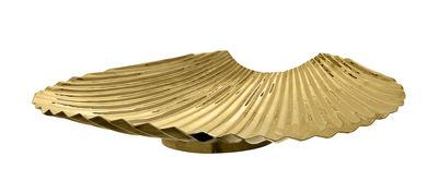 Decoration - Centrepieces & Centrepiece Bowls - Concha Centrepiece - / Ø 42 cm - Metal by AYTM - Gold - Brass