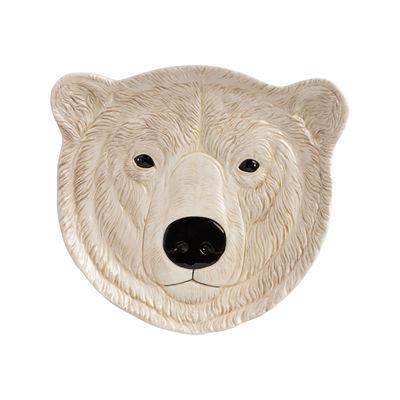 Decoration - Children's Home Accessories - Polar bear Dessert plate - / Ø 21.5 cm - Hand painted porcelain by & klevering - White / Polar bear - China