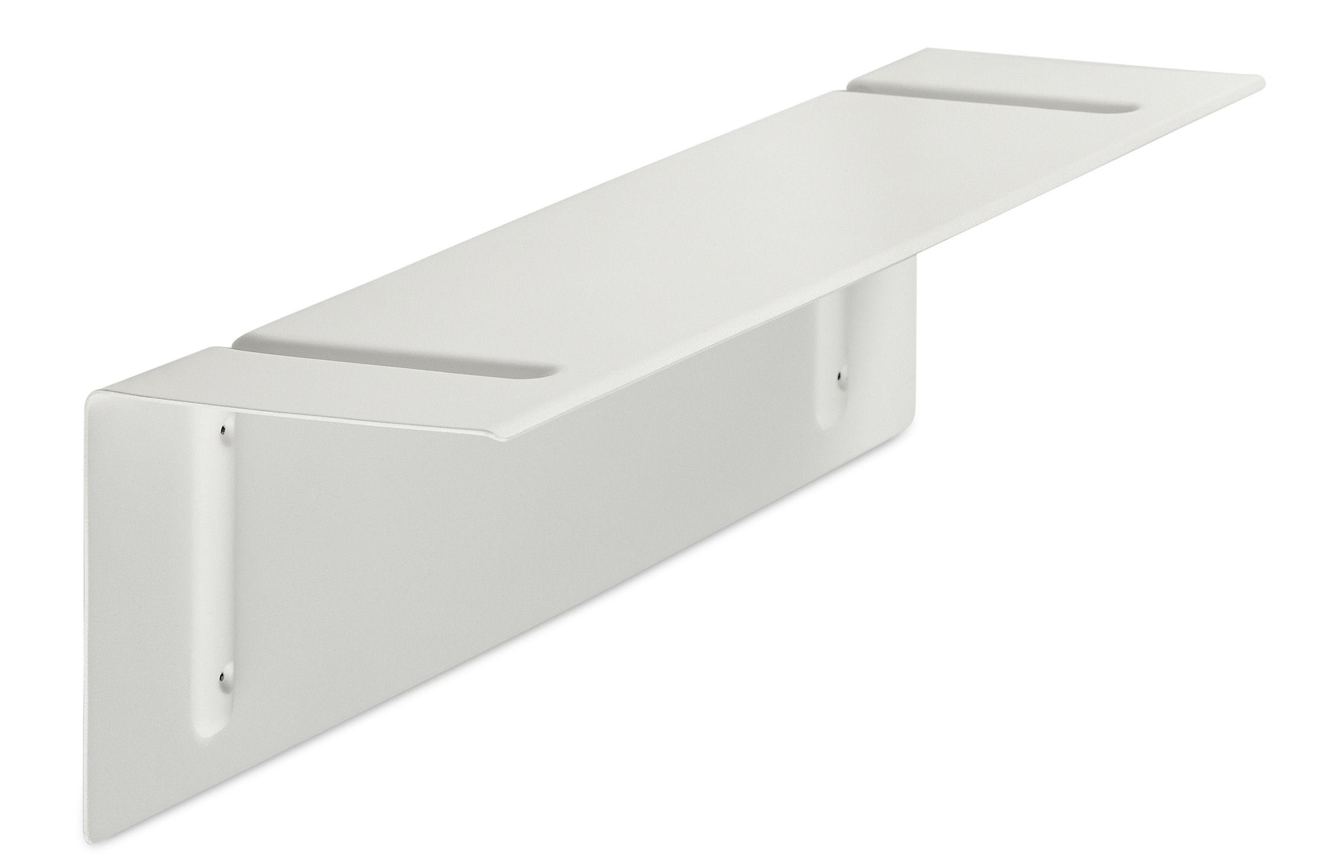 Mobilier - Etagères & bibliothèques - Etagère Brackets Included / L 80 cm - Hay - Blanc - Acier laqué