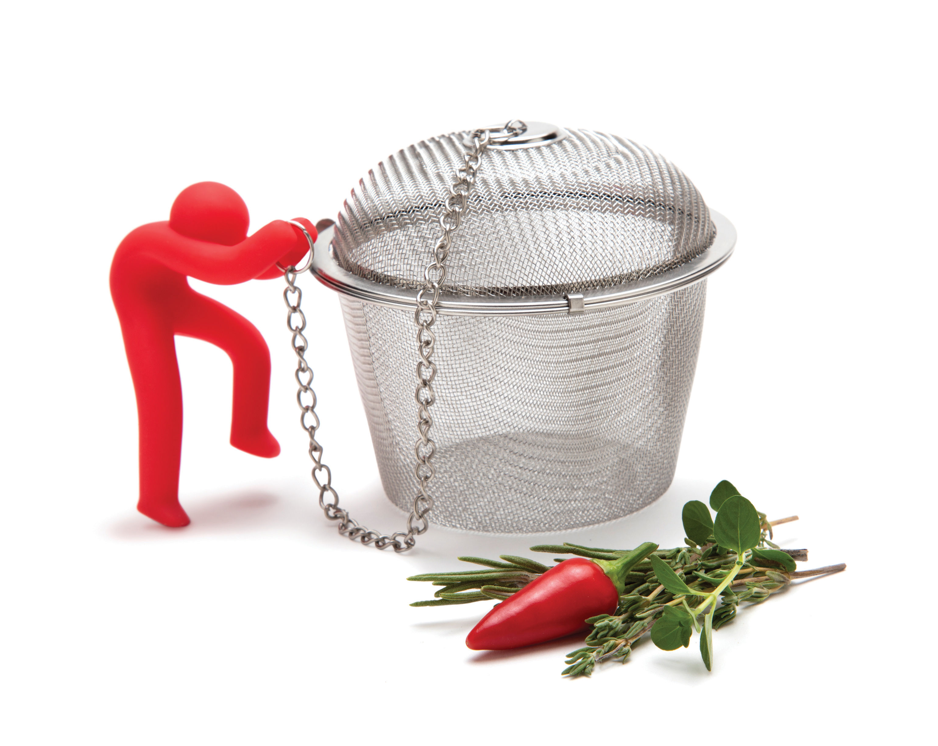 Kitchenware - Kitchen Equipment - Hike Mike Herbs infuser by Pa Design - Red - Silicone, Stainless steel