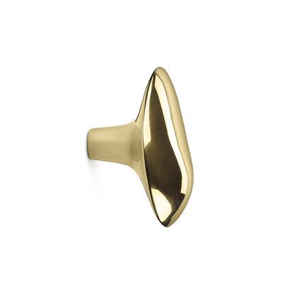 Furniture - Coat Racks & Pegs - Chanterelle Hook - / Handle - Metal by Ferm Living - Brass - Solid brass