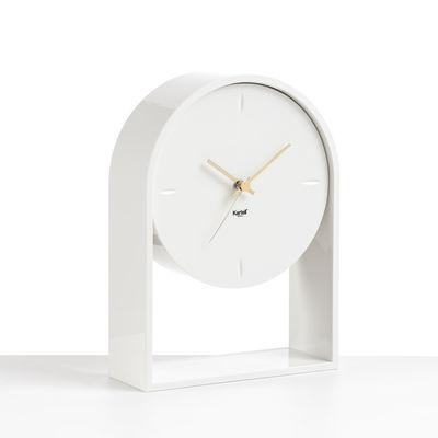 Interni - Orologi  - Orologio da posare L'Air du temps - / H 30 cm di Kartell - Bianco / Bianco - Technopolymère thermoplastique