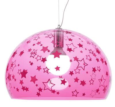 Decoration - Children's Home Accessories - FL/Y KIDS Pendant - / Ø 52 cm by Kartell - Pink / Stars - PMMA
