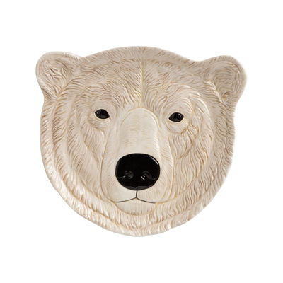Interni - Per bambini - Piatto da dessert Polar bear - / Ø 21.5 cm - Porcellana dipinto a mano di & klevering - bianco / Orso polare - Porcellana