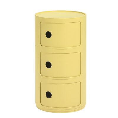 Arredamento - Tavolini  - Portaoggetti Componibili Bio - / 3 cassetti - Materiale naturale & biodegradabile di Kartell - Giallo - Bioplastica Bio-On