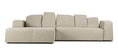 Möbel - Sofas - Something Like This Sofa modulierbar 2 Module / 3-Sitzer - L 307 cm - Moooi - Beige-meliert - Tissu - Bois - Mousse - Métal