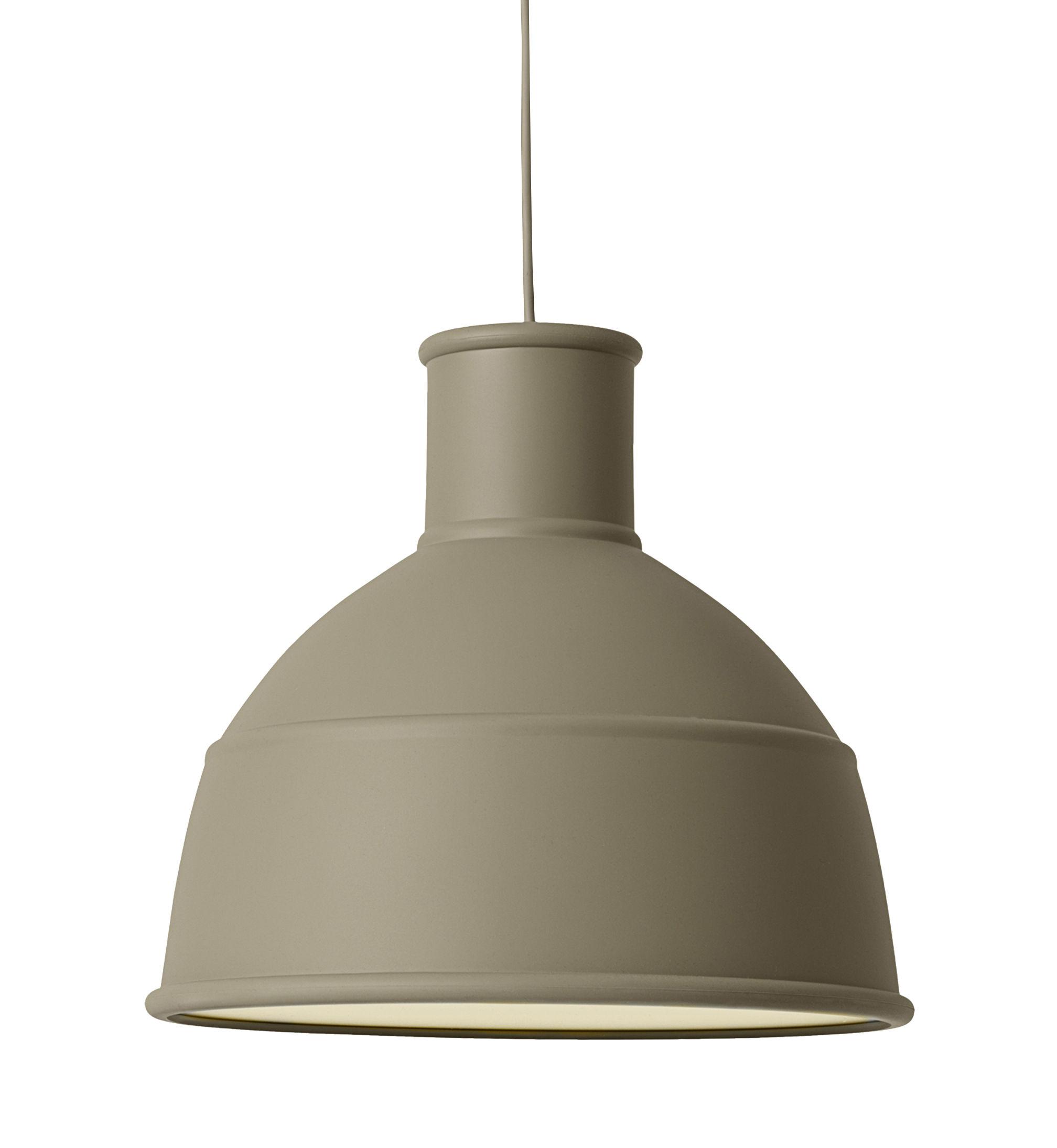 Illuminazione - Lampadari - Sospensione Unfold - / in silicone di Muuto - Verde oliva - Silicone