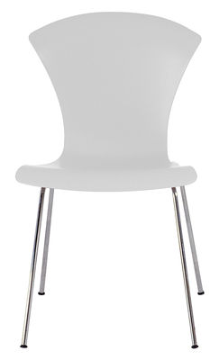 Furniture - Chairs - Nihau Stacking chair - Plastic seat & metal legs by Kartell - White - Chromed steel, Polypropylene