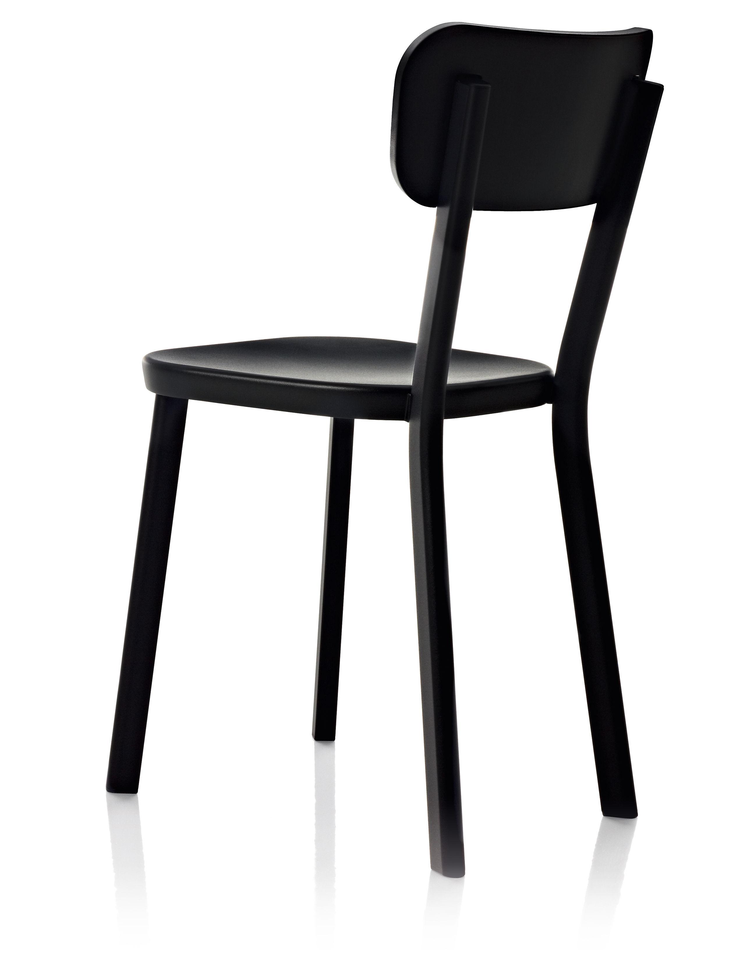 Möbel - Stühle  - Déjà-vu Stuhl Einfarbige Variante - Magis - Schwarz - klarlackbeschichtetes Aluminium