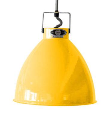 Suspension Augustin Small Ø 16 cm - Jieldé moutarde brillant en métal
