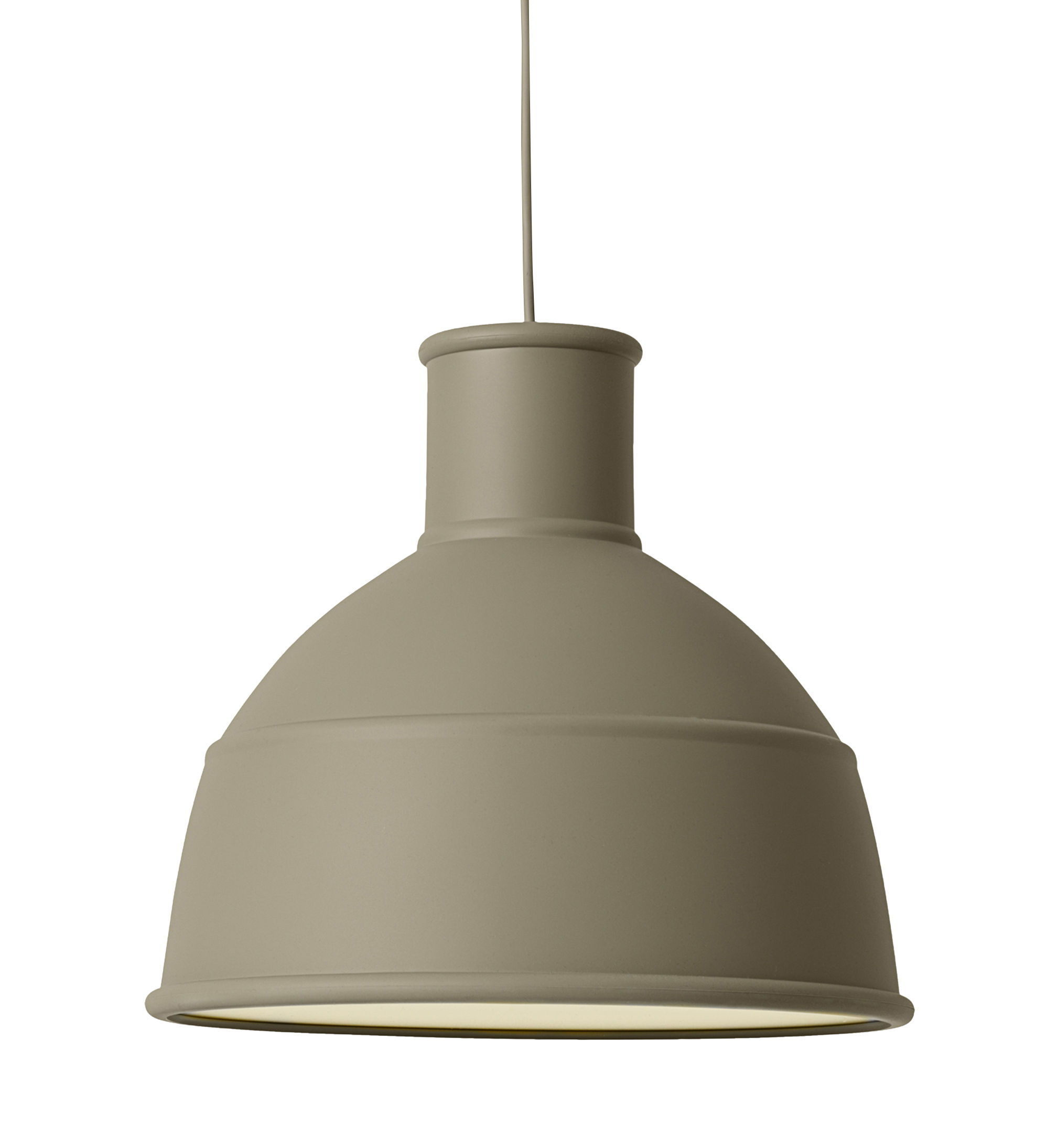 Luminaire - Suspensions - Suspension Unfold / en silicone - Muuto - Vert olive - Silicone
