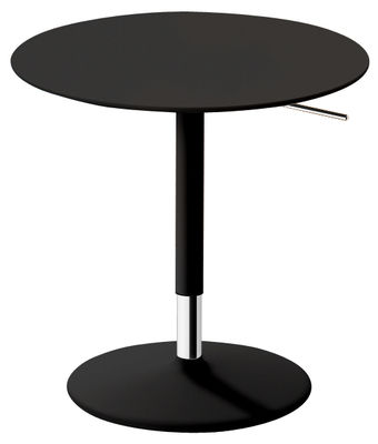 Table à hauteur réglable Pix / Ø 50 cm - H 48-74 cm - Arper noir en métal