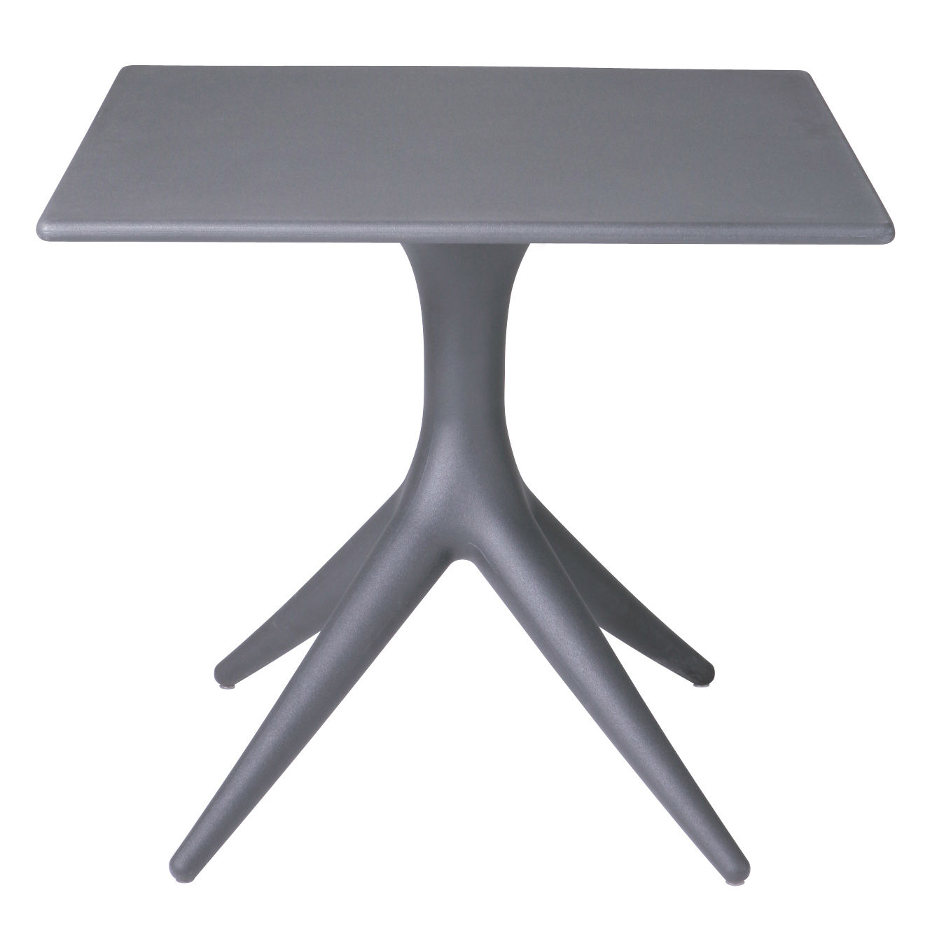 Jardin - Tables de jardin - Table App / 80 x 80 cm - Driade - Gris anthracite - Polyéthylène rotomoulé
