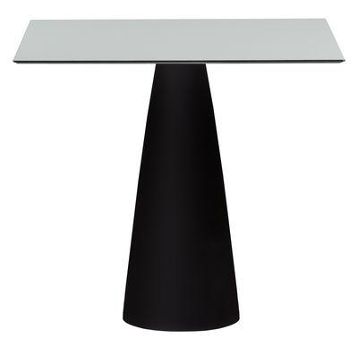 Table Hoplà - H 72 cm / 79 x 79 cm - Slide blanc,noir en matière plastique