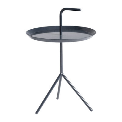 Arredamento - Tavolini  - Tavolino Don't leave Me - / Ø 38 x H 58 cm di Hay - Blu profondo brillante - Acciaio laccato