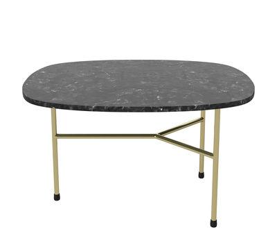 Arredamento - Tavolini  - Tavolino Pod - / Large - 65 x 51 cm di Bolia - Nero & ottone - Marmo, Ottone