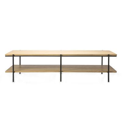 Arredamento - Tavolini  - Tavolino Rise - / rettangolare - 120 x 70 cm di Ethnicraft - Rovere & nero - metallo verniciato, Rovere massello