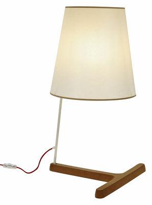 Cork T-High Tischleuchte H 70 cm - Forestier - Weiß,Beige