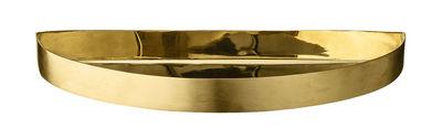 Tableware - Trays - Unity Tray - Half circle / L 21,5 cm by AYTM - Brass - Brass plated iron