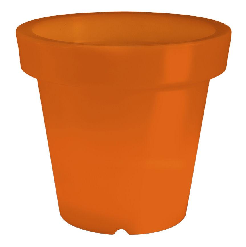 Arredamento - Mobili luminosi - Vaso per fiori luminoso Bloom di Bloom! - Arancione - Polietilene
