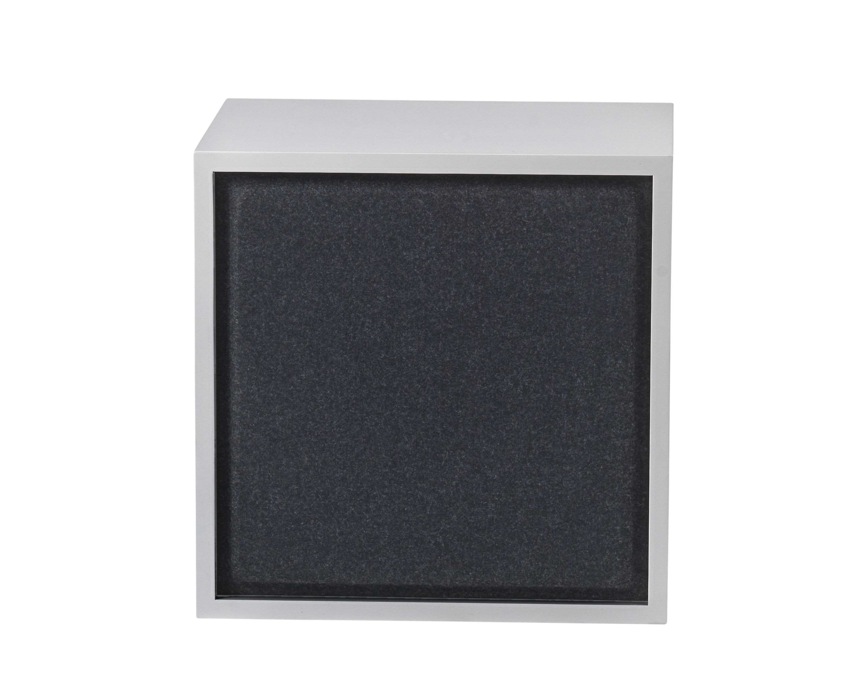 Furniture - Bookcases & Bookshelves - Acoustics board - For Medium Stacked shelf  - 43x43 cm by Muuto - Black - Felt