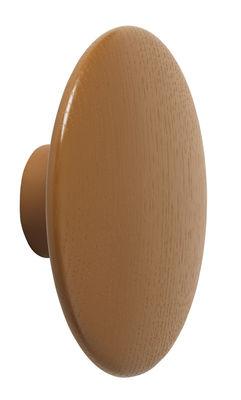 Arredamento - Appendiabiti  - Appendiabiti The Dots Wood - / Large - Ø 17 cm di Muuto - Marrone argilla - Frassino tinto
