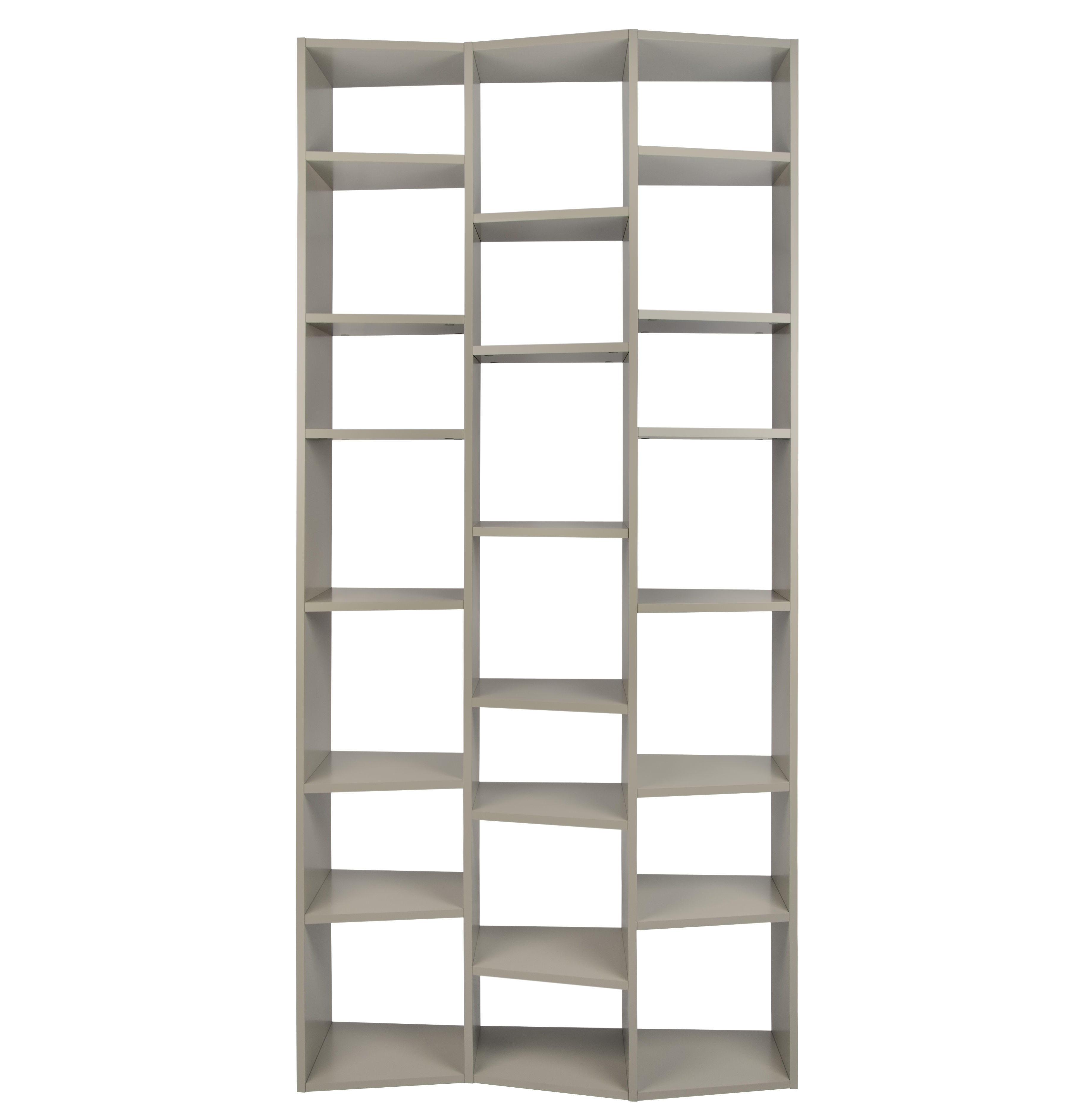 Furniture - Bookcases & Bookshelves - New York 007 Bookcase - L 110 x H 224 cm by POP UP HOME - Grey - Painted chipboard