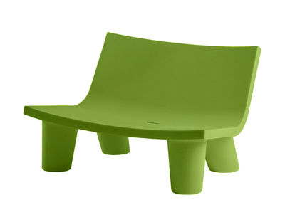 Canapé 2 places Low Lita Love / L 118 cm - Slide vert en matière plastique