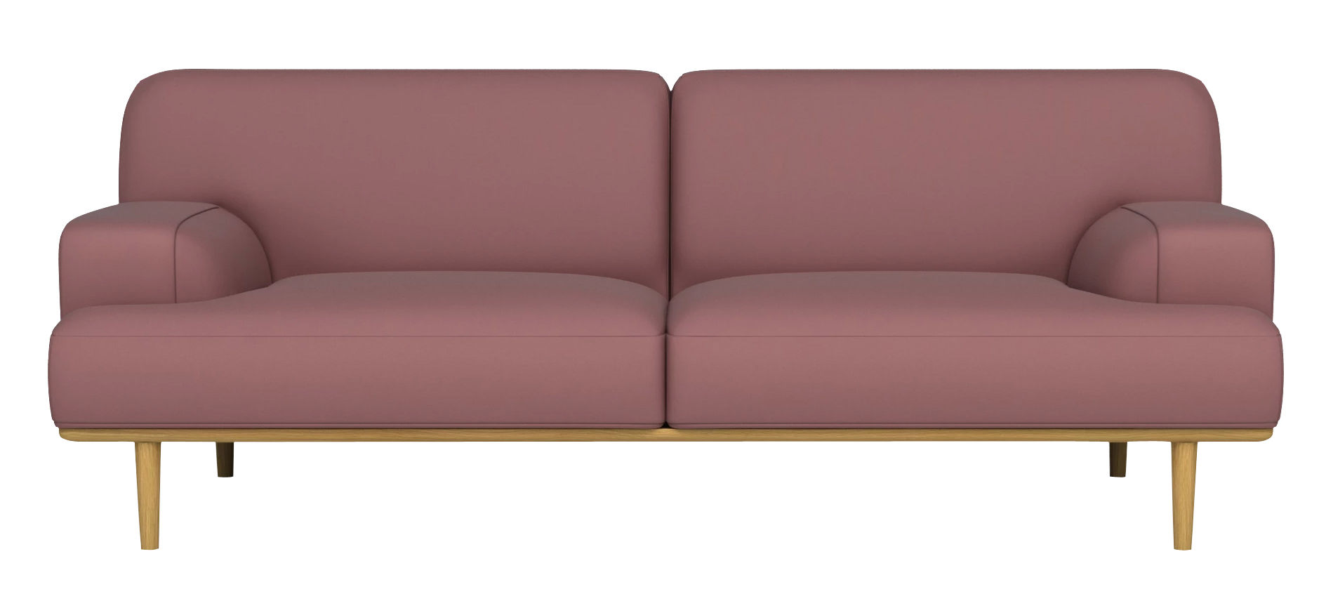 canap droit madison velours 2 places l 204 cm velours rose ch ne bolia made in design. Black Bedroom Furniture Sets. Home Design Ideas