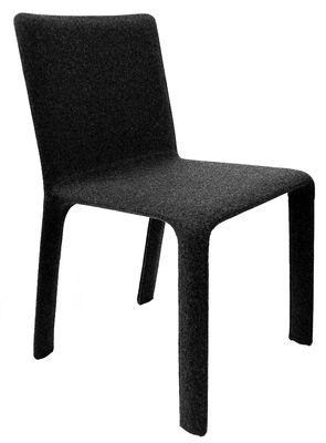 Mobilier - Chaises, fauteuils de salle à manger - Chaise rembourrée Joko - Kristalia - Gris anthracite - Laine, Métal, Mousse de polyuréthane