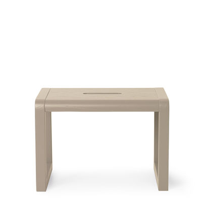 Furniture - Kids Furniture - Little Architect Children stool - / Wood by Ferm Living - Cashmere beige - Ash plywood, Ashwood