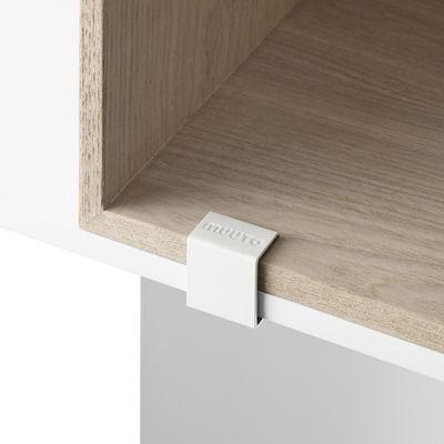 Mobilier - Etagères & bibliothèques - Clip d'assemblage / Pour étagères Mini Stacked 2.0 - Lot de 5 clips - Muuto - Blanc - Métal laqué