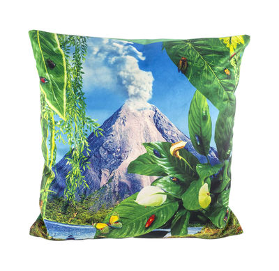 Decoration - Cushions & Poufs - Toiletpaper Cushion - / Volcano - 50 x 50 cm by Seletti - Volcano / Green - Feathers, Polyester fabric