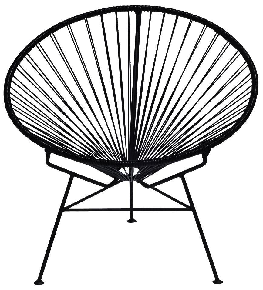 Mobilier - Fauteuils - Fauteuil bas Condesa - OK Design pour Sentou Edition - Noir - Acier laqué, Matière plastique