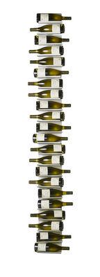 Tischkultur - Bar, Wein und Apéritif - Ptolomeo Vino Flaschenhalter / Wandregal - H 208 cm - Opinion Ciatti - Weiß - lackiertes Metall