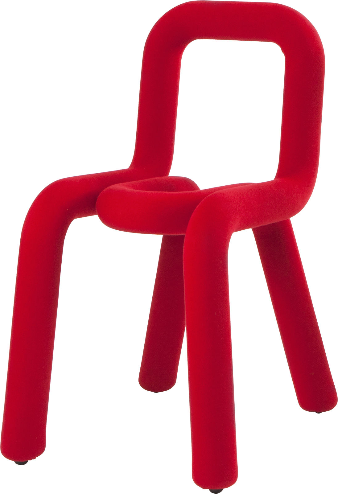 Möbel - Stühle  - Bold Gepolsterter Stuhl - Moustache - Rot - Gewebe, Polyurethan-Schaum, Stahl