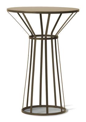 Mobilier - Tables basses - Guéridon Hollo / Ø 50 x H 73 cm - Petite Friture - Or mat - Acier inoxydable peint epoxy
