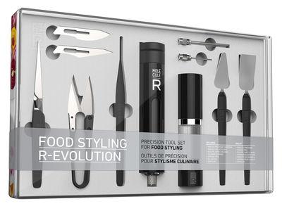 Kit cuisine moléculaire Styling R-ÉVOLUTION / 11 ustensiles - Molécule-R multicolore en métal